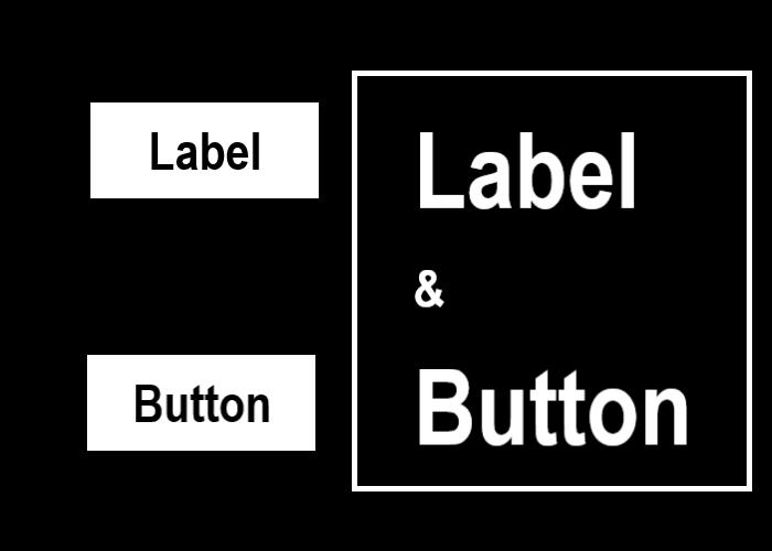 ラベルとボタンを示す画像