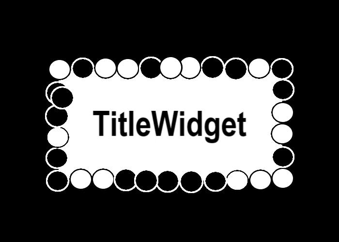 TitleWidgetを象徴する画像