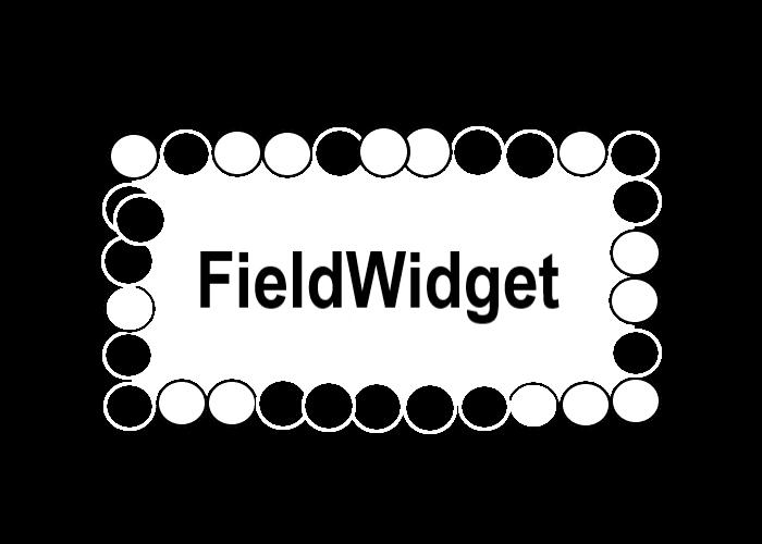 フィールドウィジェットを表す画像