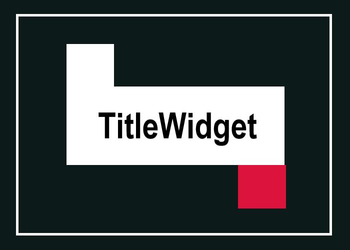 TitleWidgetを表す画像