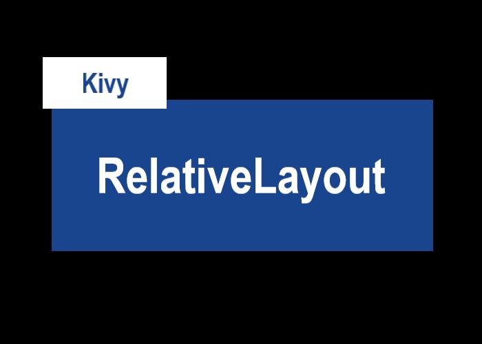 KivyのRelativeLayoutを表すサムネイル