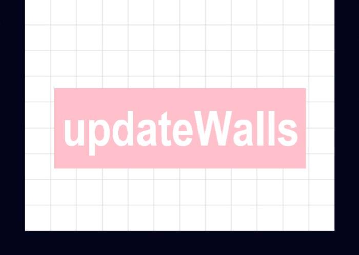 盤面の壁を表示する関数を表す画像