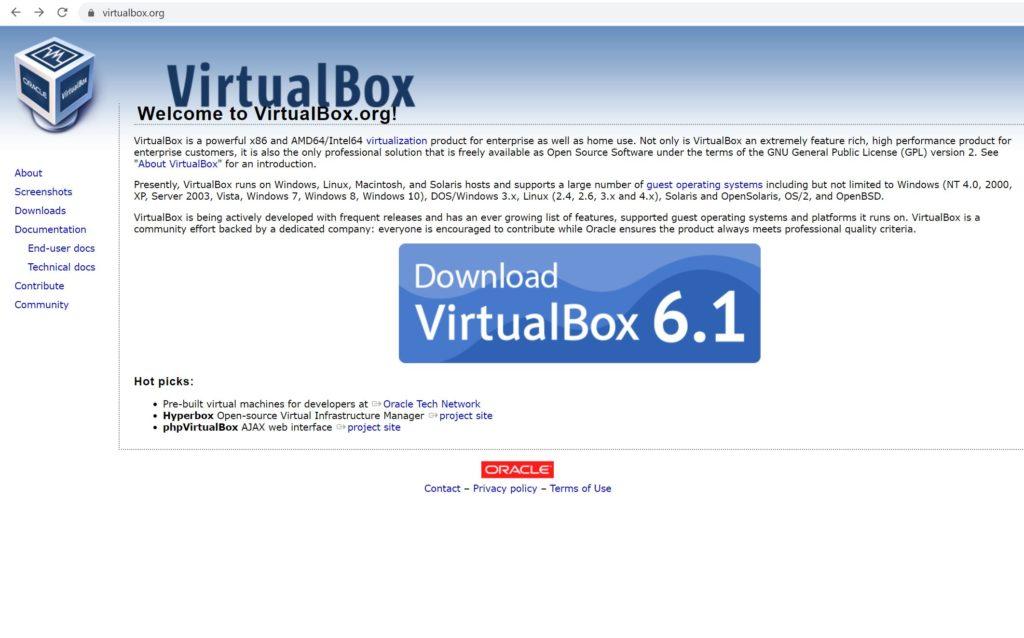 バーチャルボックスのホームページ