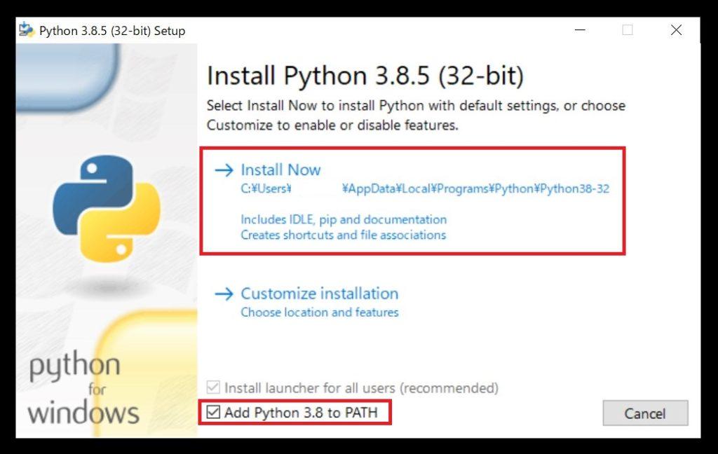 実際に自身のパソコンにpythonをインストール
