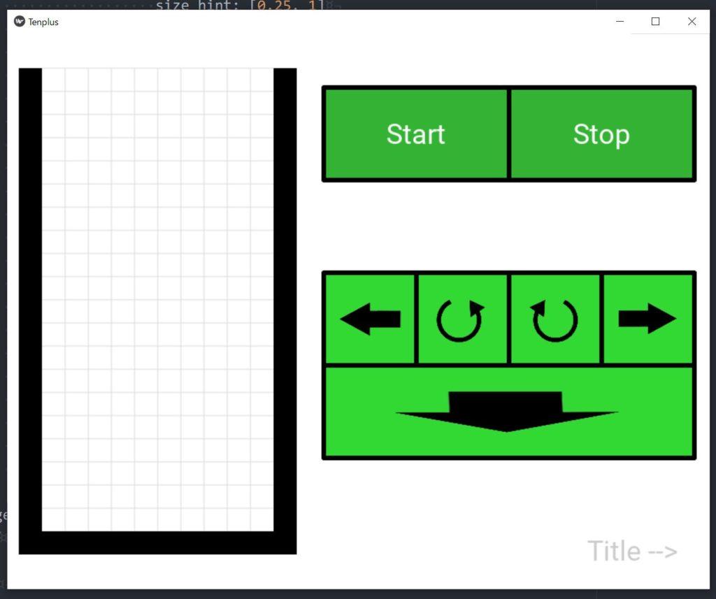 tenplusapp.py実行時の画像